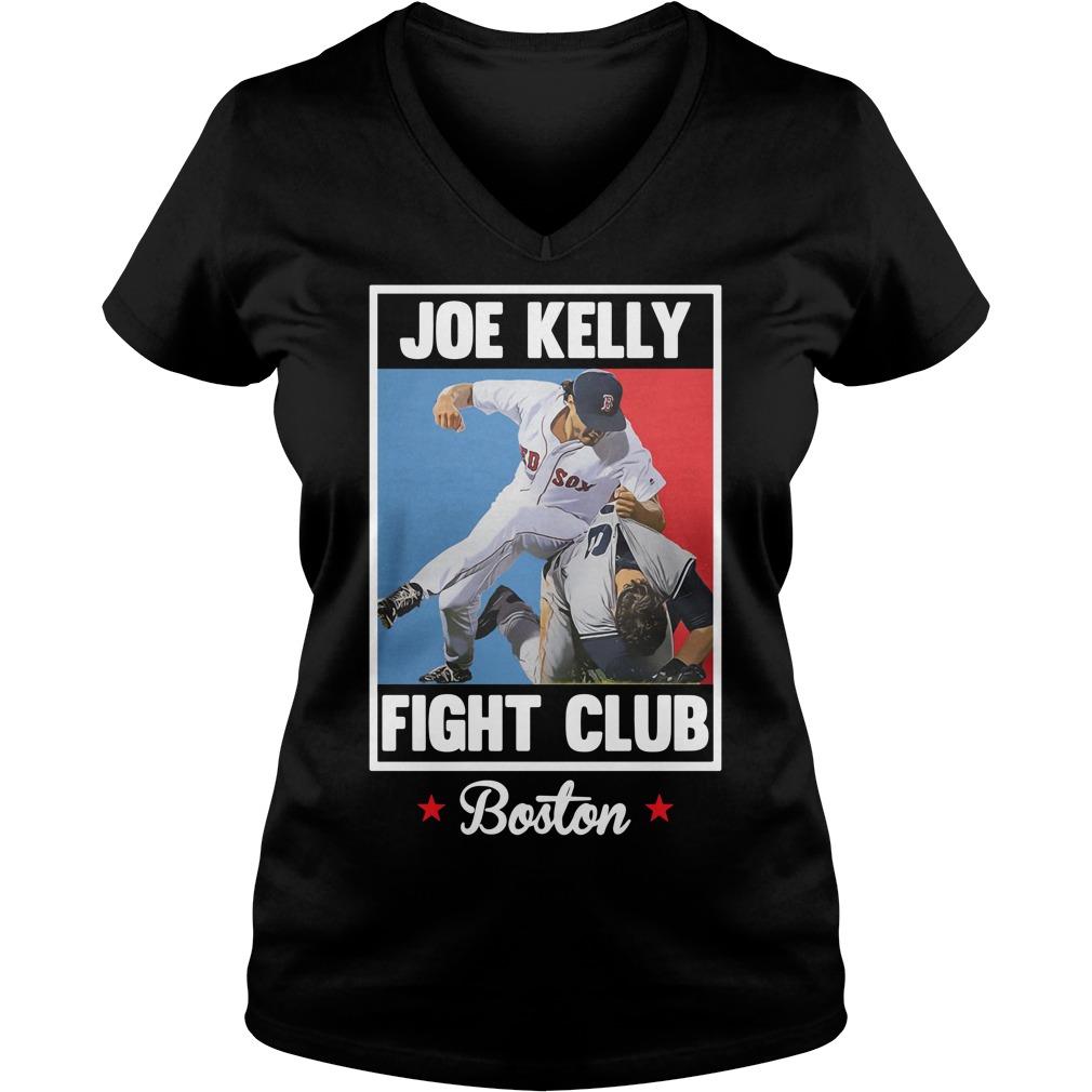 Joe Kelly fight club Boston V-neck T-shirt