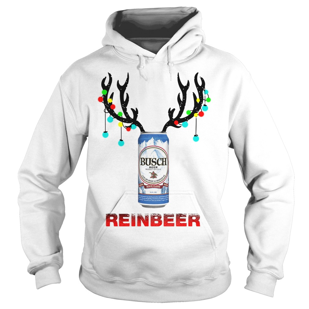 Light Christmas Busch Light reinbeer Hoodie