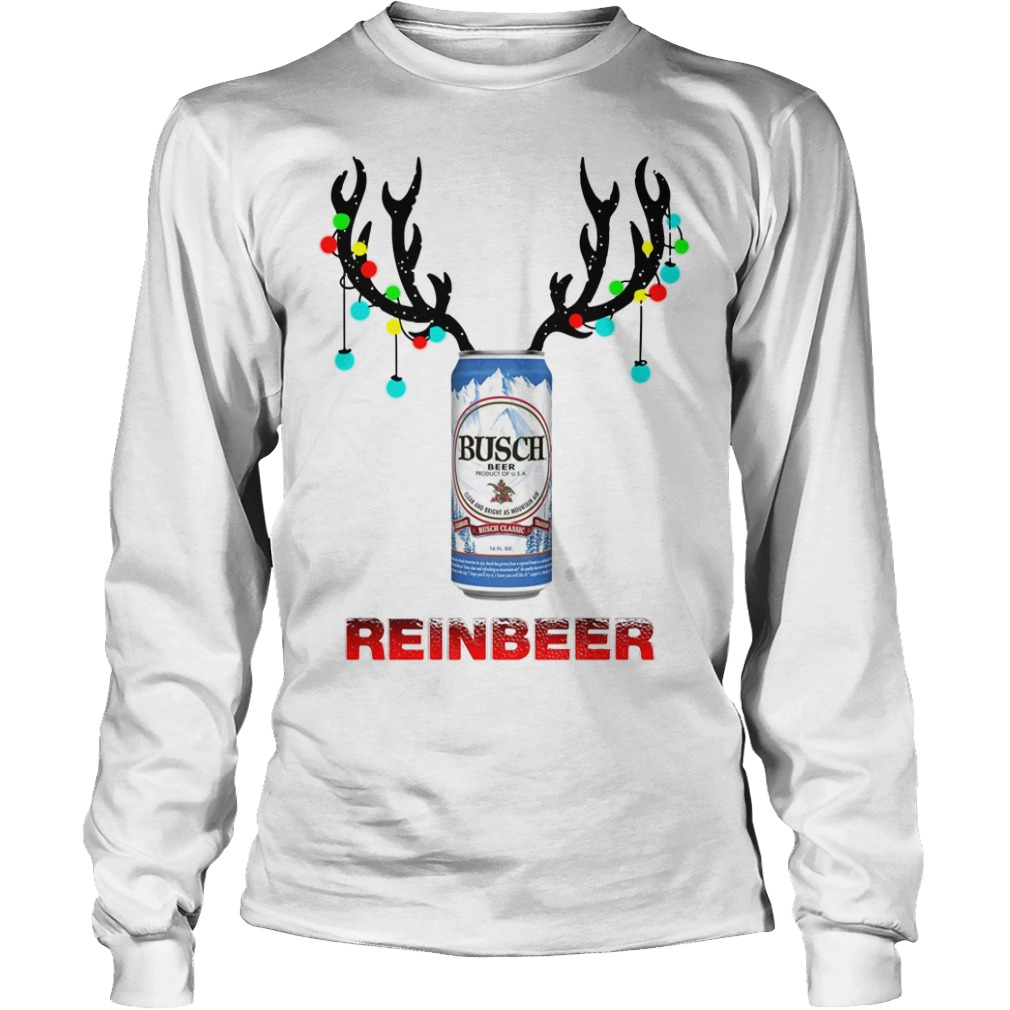 Light Christmas Busch Light reinbeer Longsleeve Tee