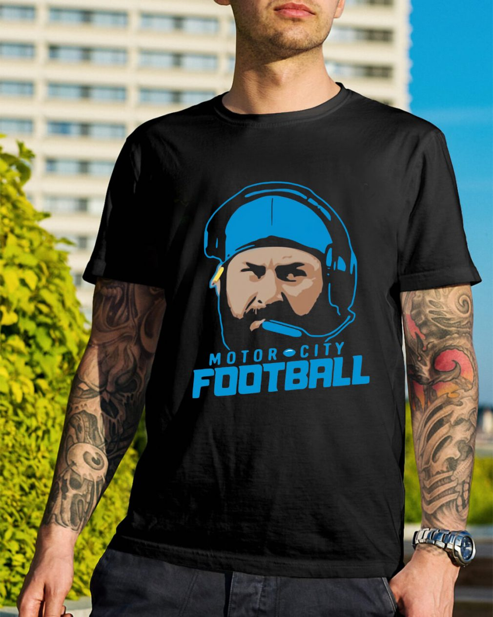 Matt Patricia motor city football shirt