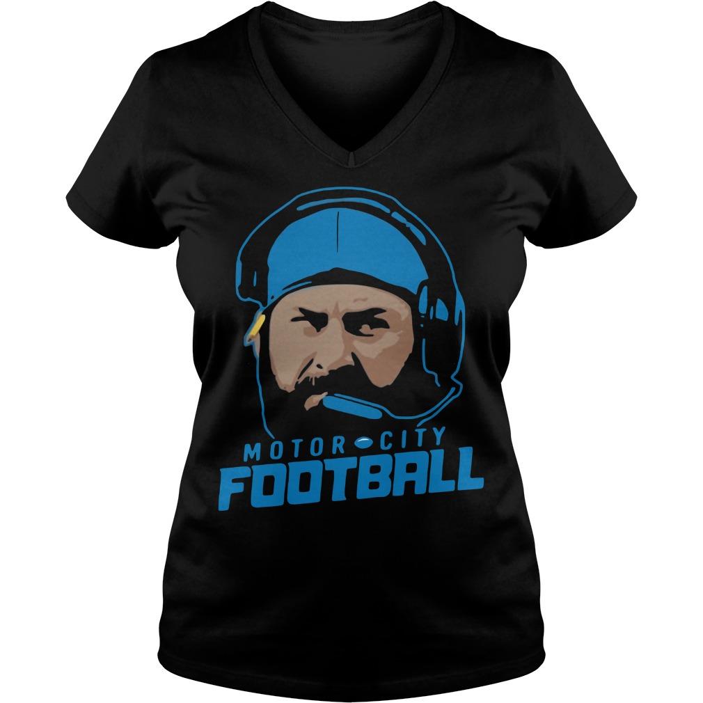 Matt Patricia motor city football V-neck T-shirt