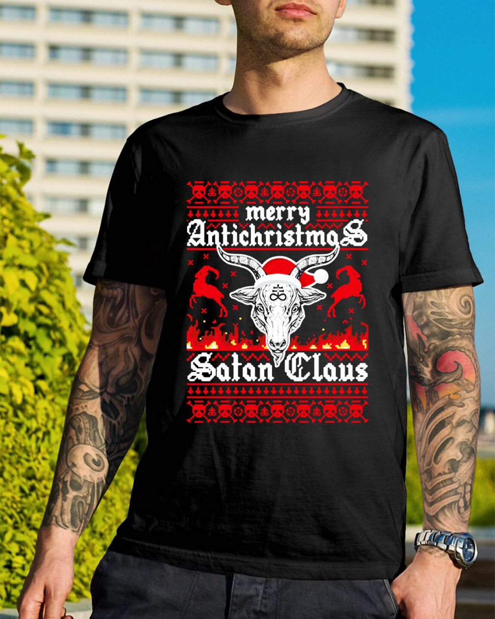 Merry Antichristmas Satan Claus Guys Shirt