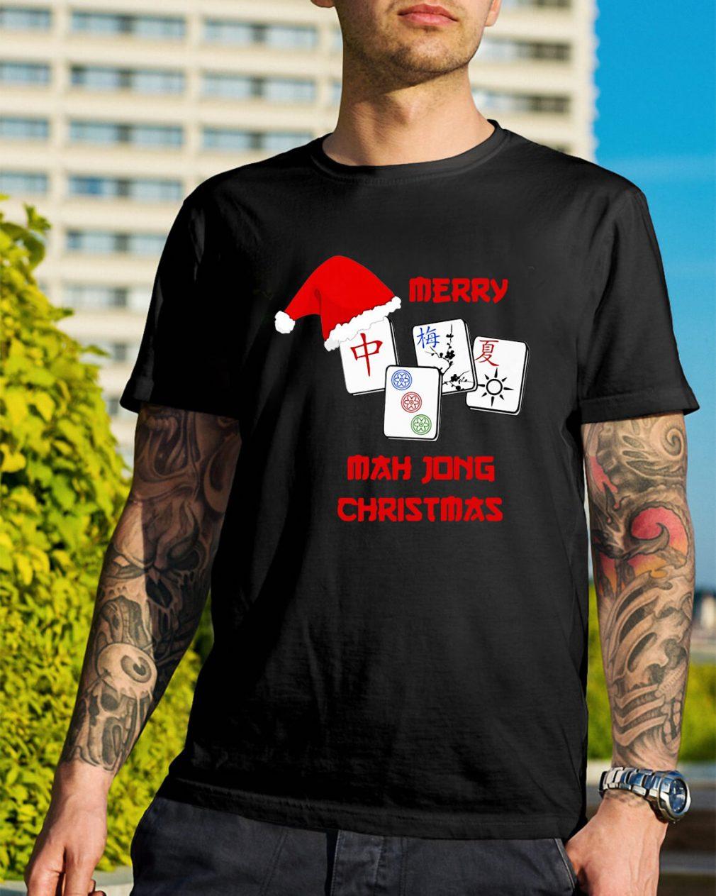 Merry Mahjong Christmas Guys Shirt