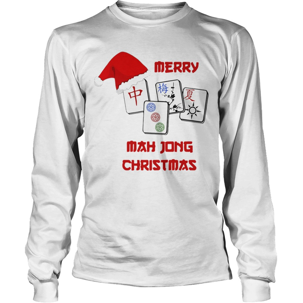 Merry Mahjong Christmas Longsleeve Tee