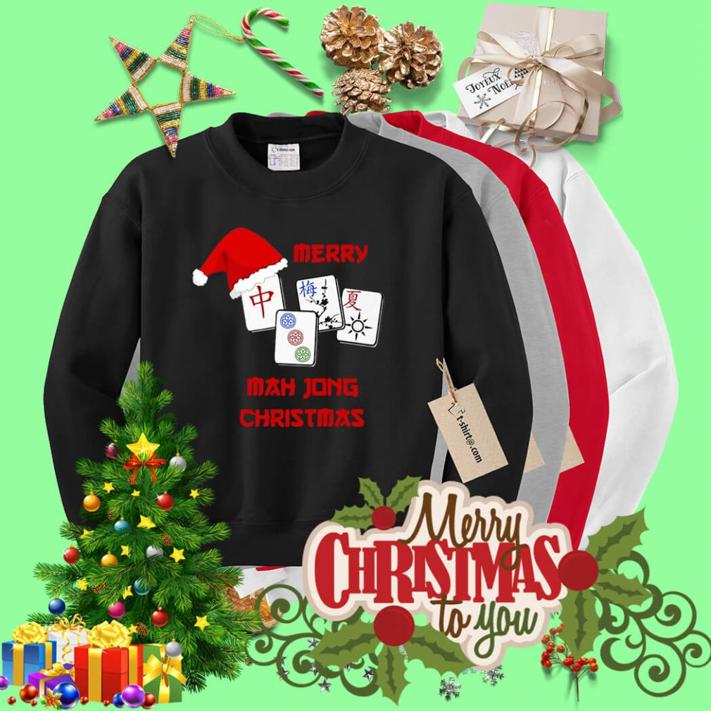Merry Mahjong Christmas shirt, sweater