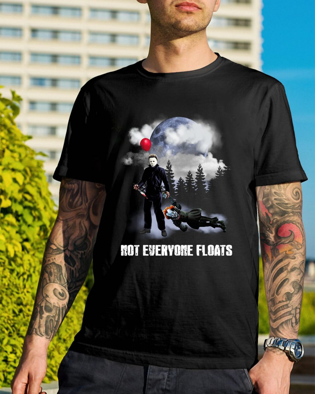 Michael Myers kill Pennywise not everyone floats shirt