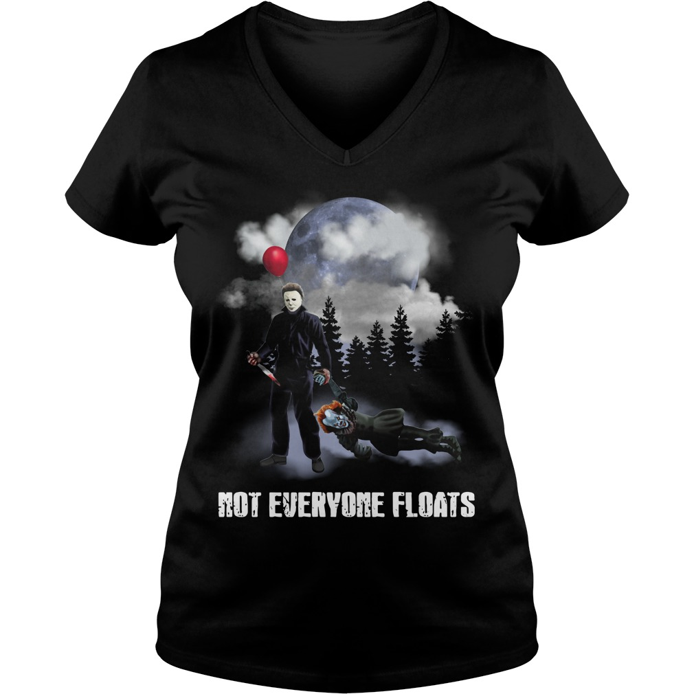 Michael Myers kill Pennywise not everyone floats V-neck T-shirt