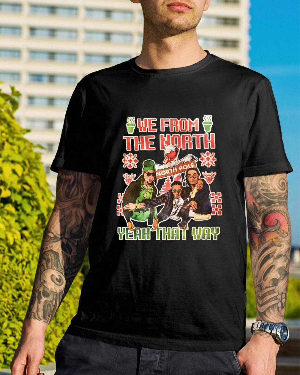 Migos Christmas we from the North yeah that way Guys Shirt