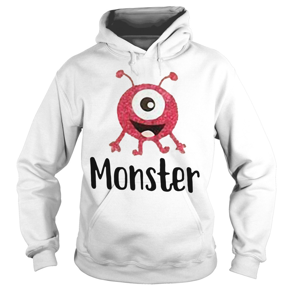 Monster pink with one eye Hoodie