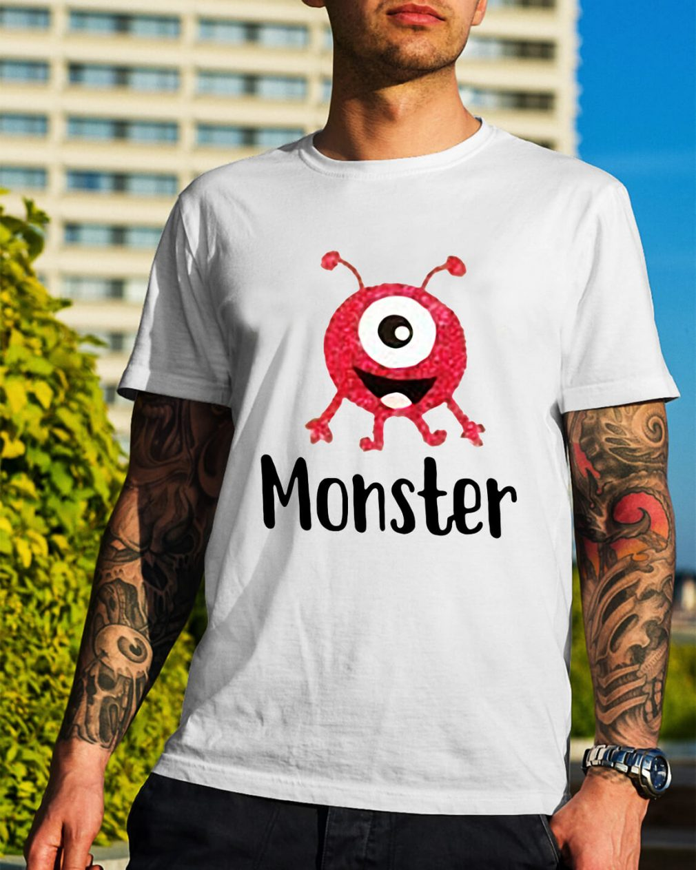 Monster pink with one eye shirt