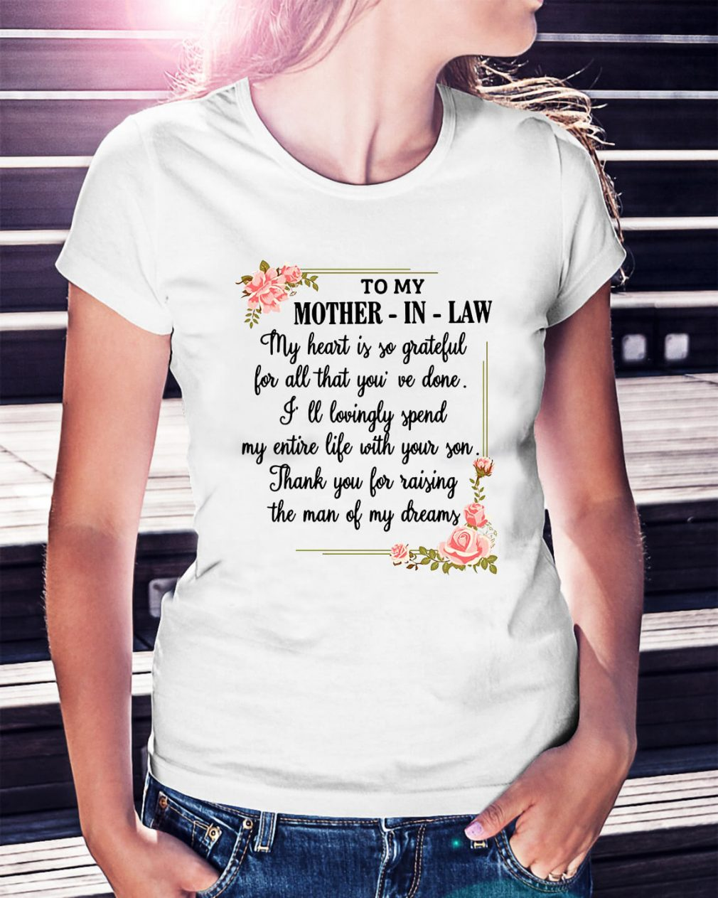 To my mother-in-law my heart is so grateful Ladies Tee
