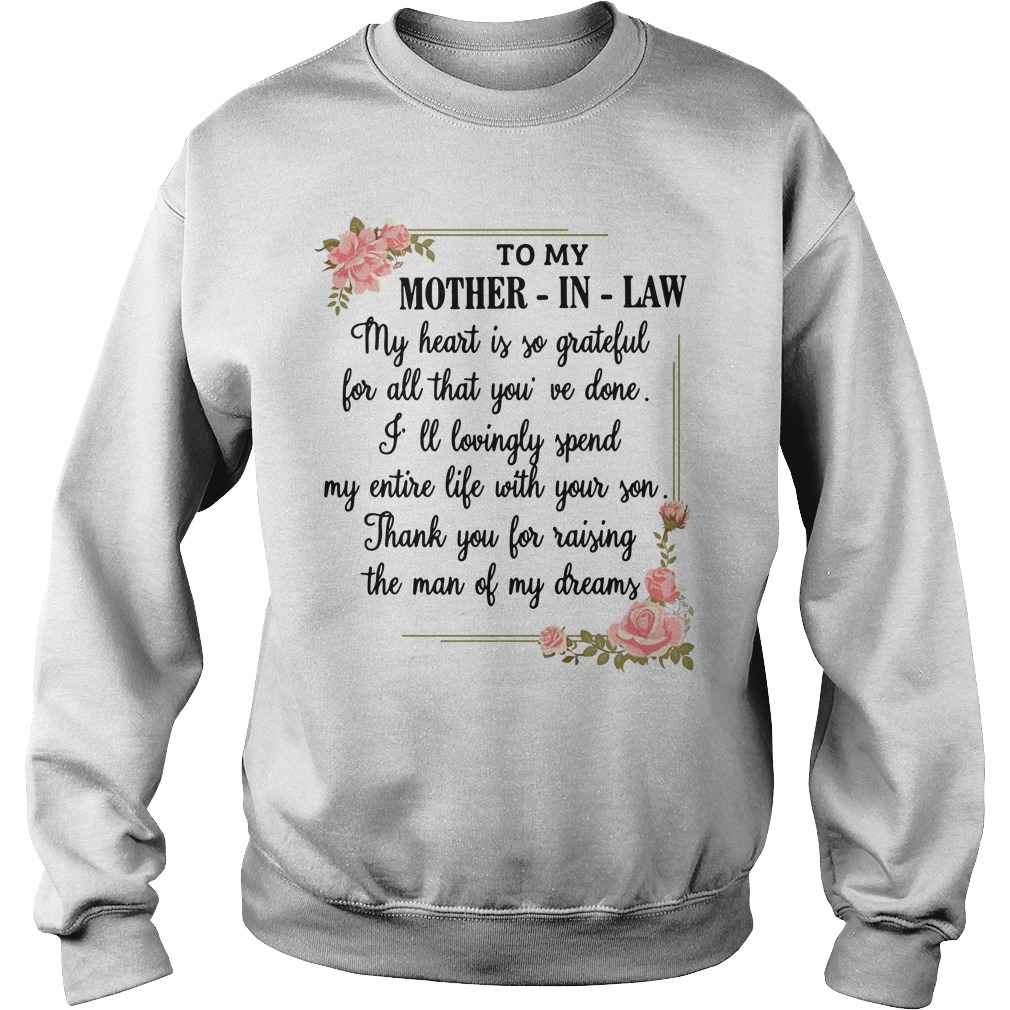 To my mother-in-law my heart is so grateful Sweater