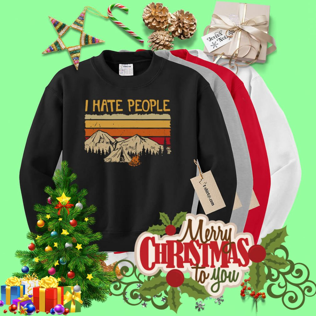 Mountain camping I hate people Sweater