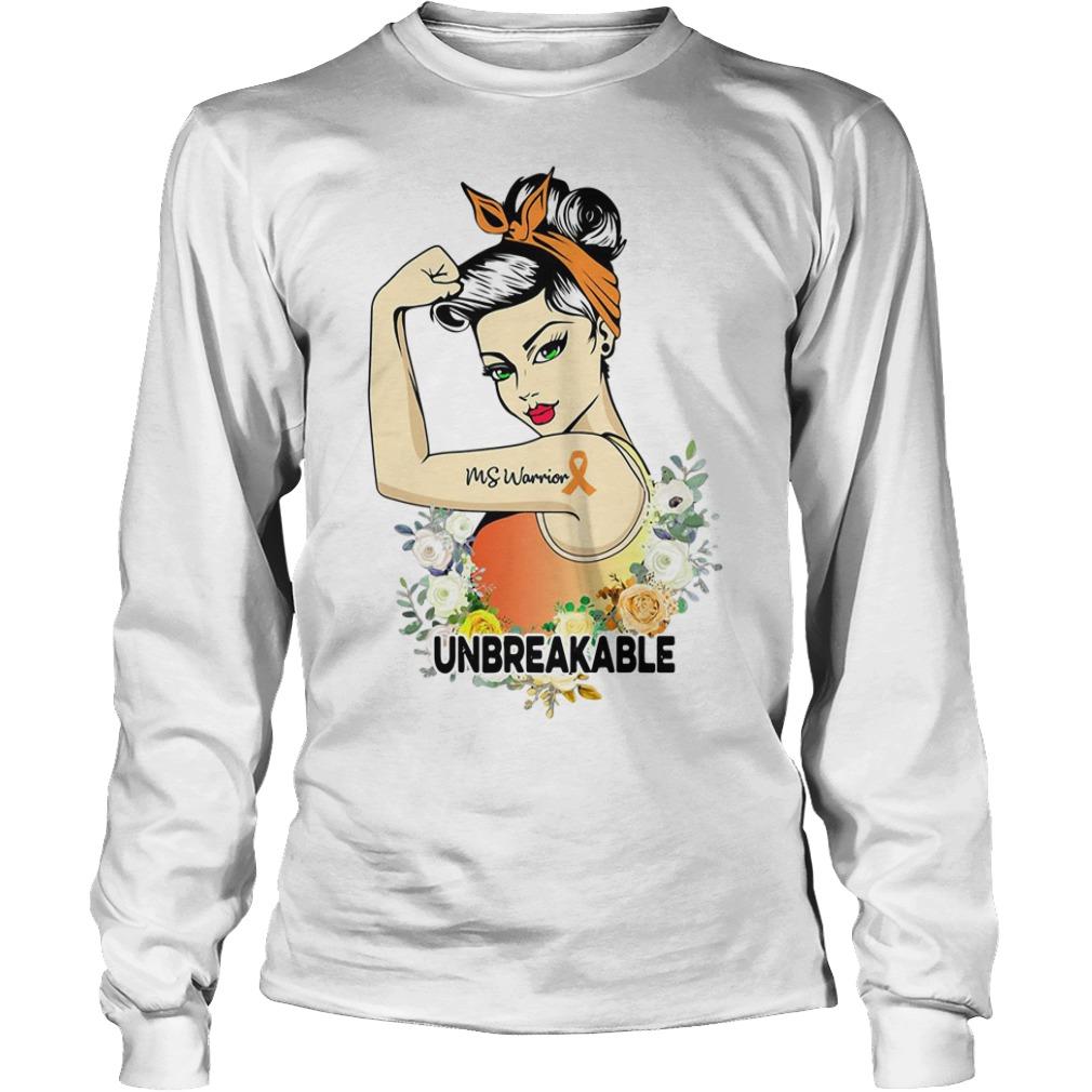 Ms warrior Unbreakable floral Longsleeve Tee