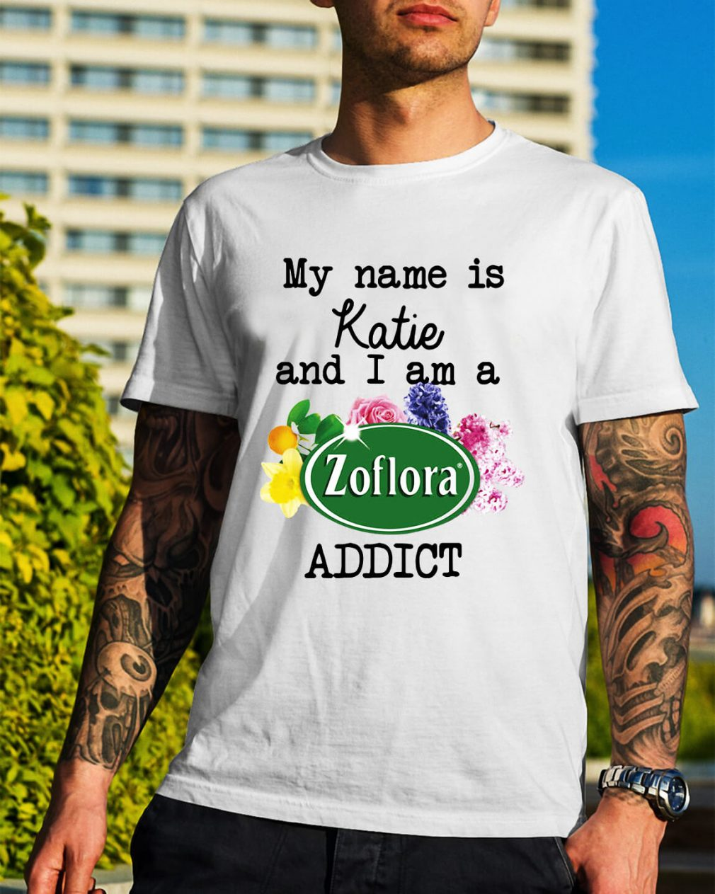 My name is Katie and I am a Zoflora addict Guys Shirt