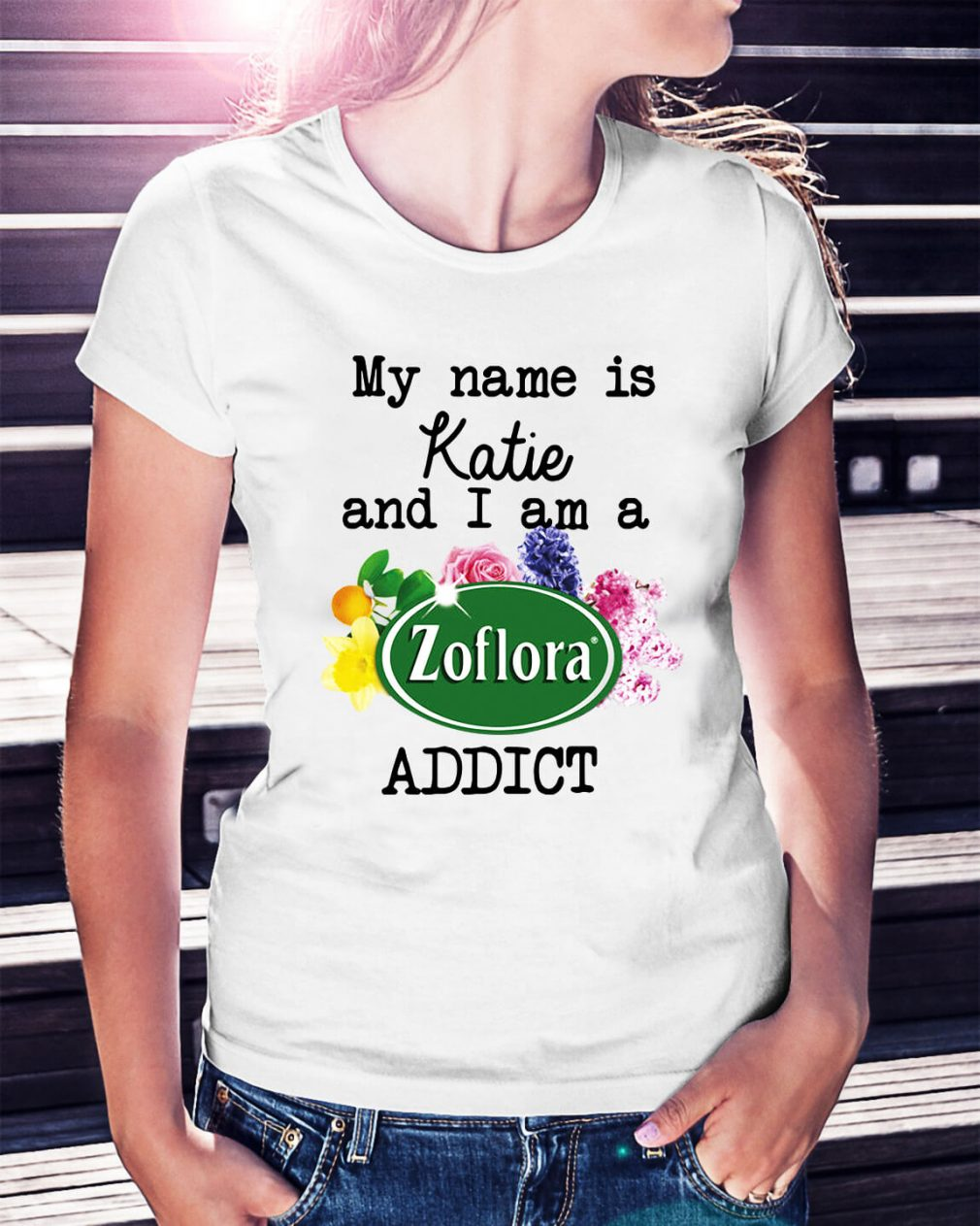 My name is Katie and I am a Zoflora addict shirt