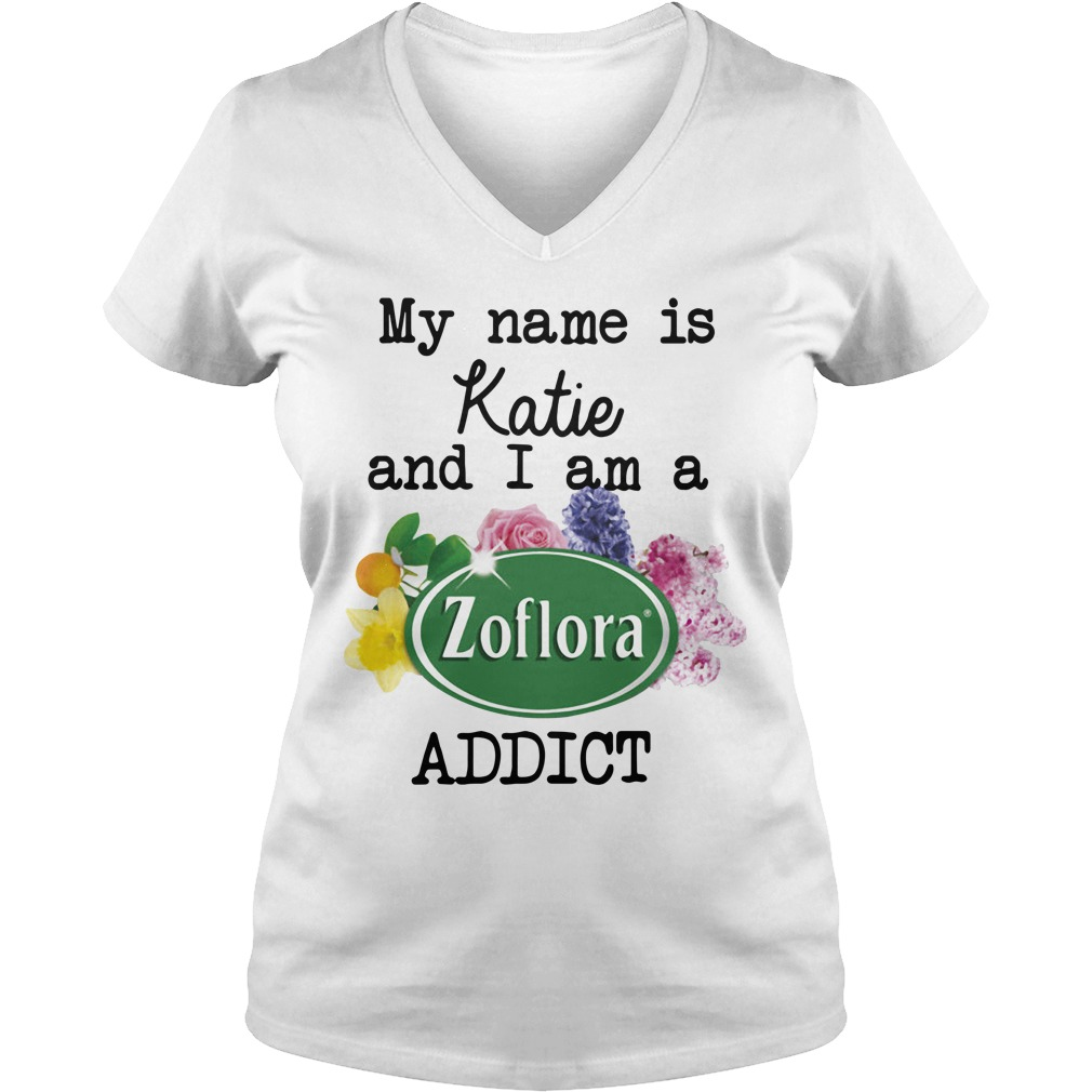 My name is Katie and I am a Zoflora addict V-neck T-shirt