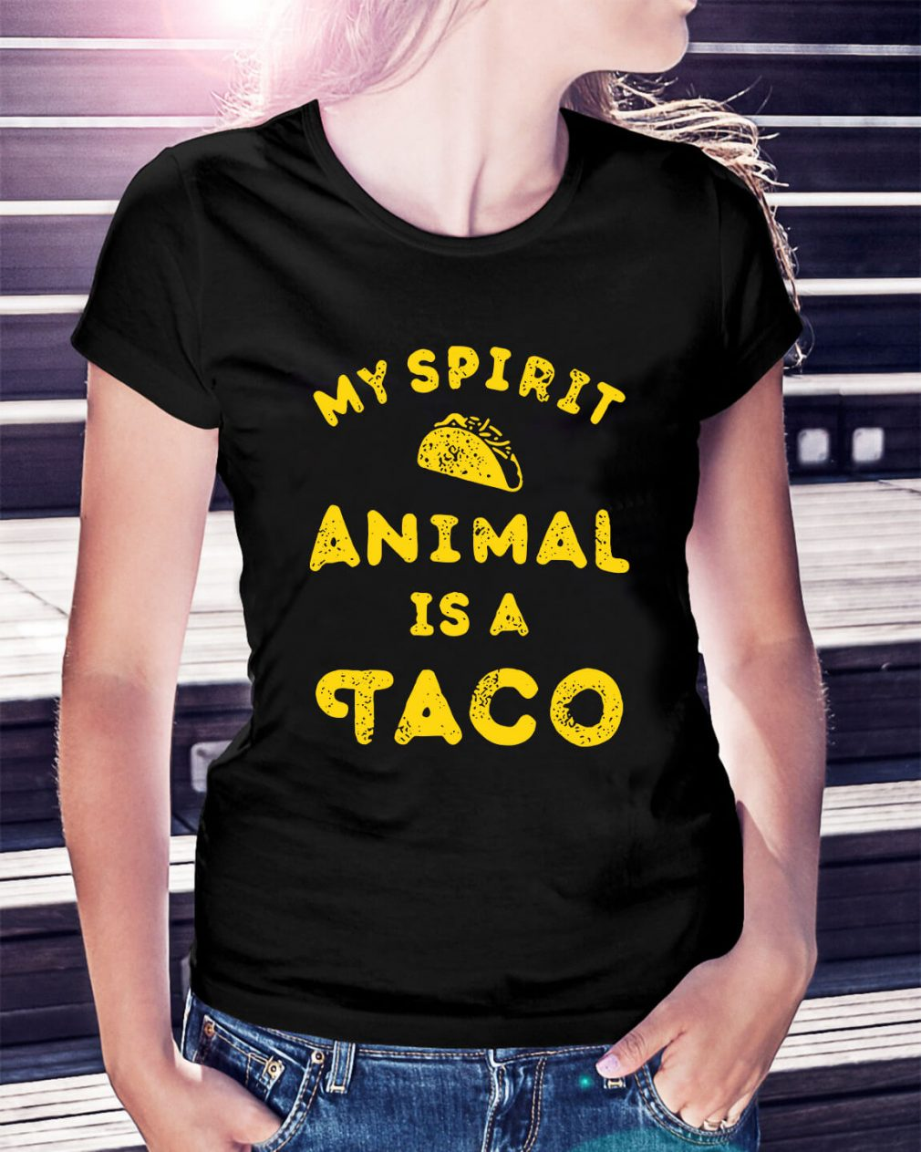 My spirit animal is a Tacos Ladies Tee