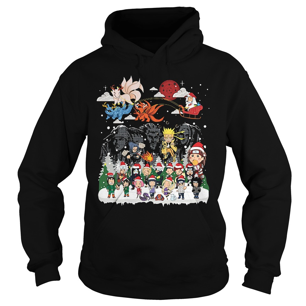 Naruto character Santa Christmas Hoodie