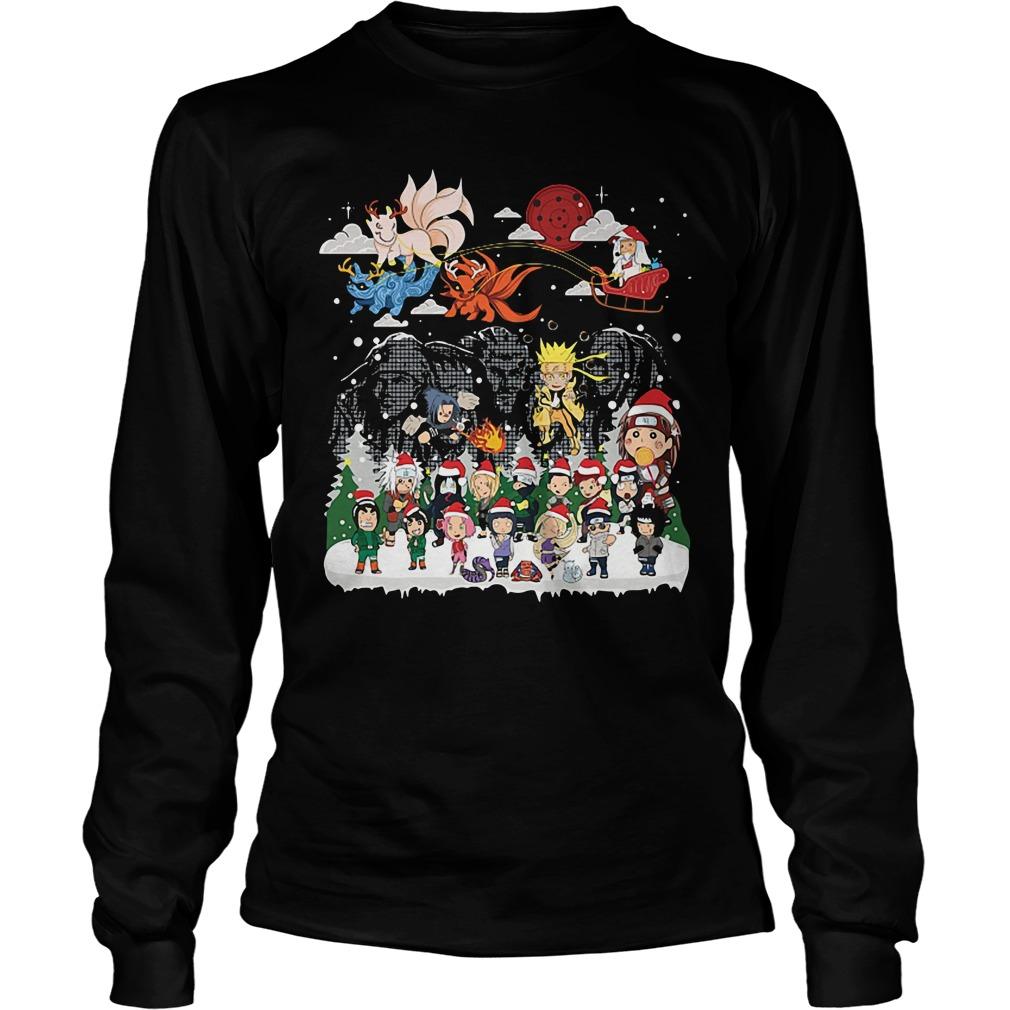 Naruto character Santa Christmas Longsleeve Tee
