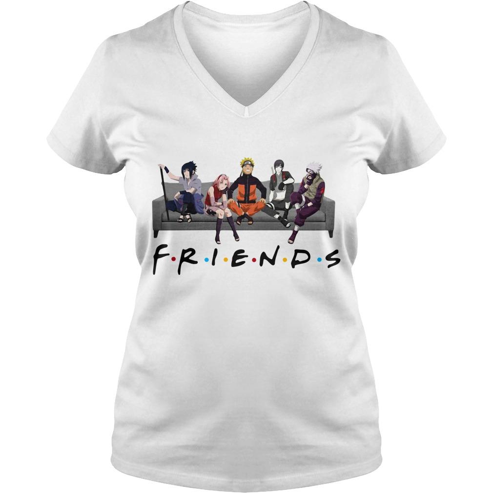 Naruto Sakura Sasuke Sai and Kakashi Friends V-neck T-shirt