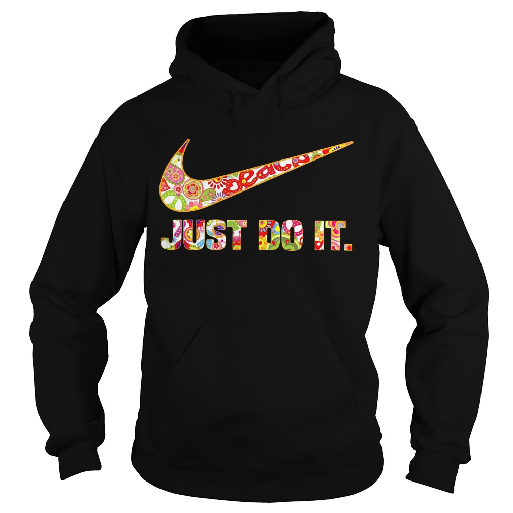 Nike Just do it floral Hoodie