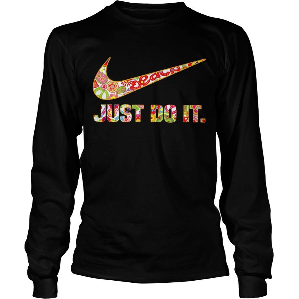 Nike Just do it floral Longsleeve Tee
