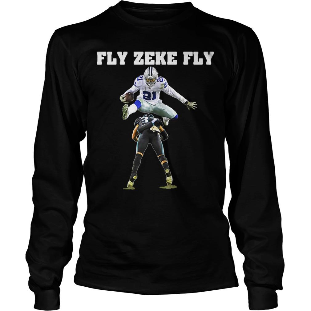 Official Ezekiel Elliott Fly Zeke Fly Longsleeve Tee