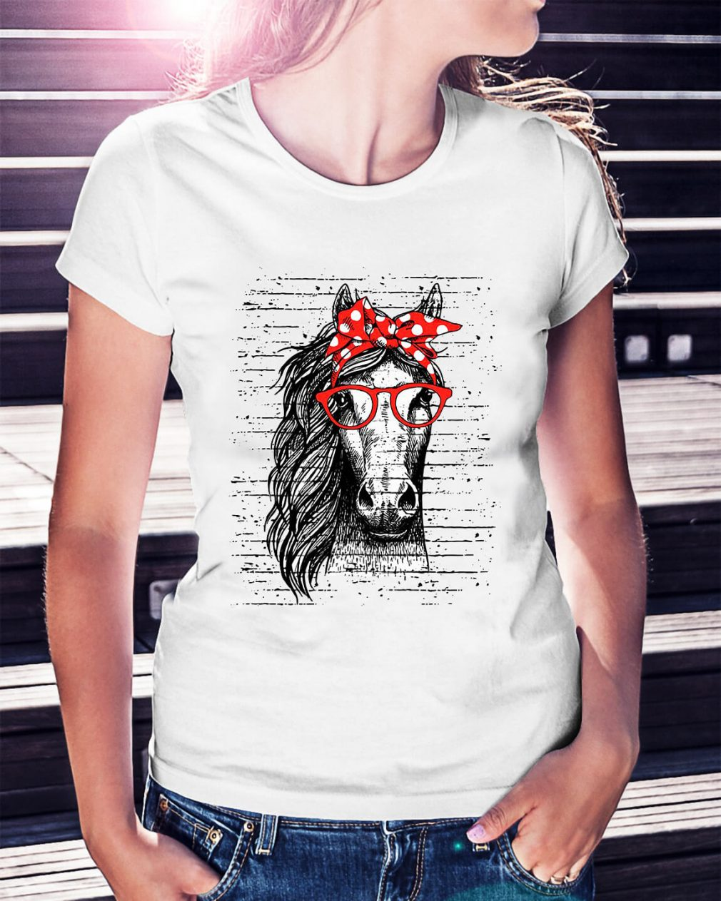 Official Horse Cowgirl Ladies Tee