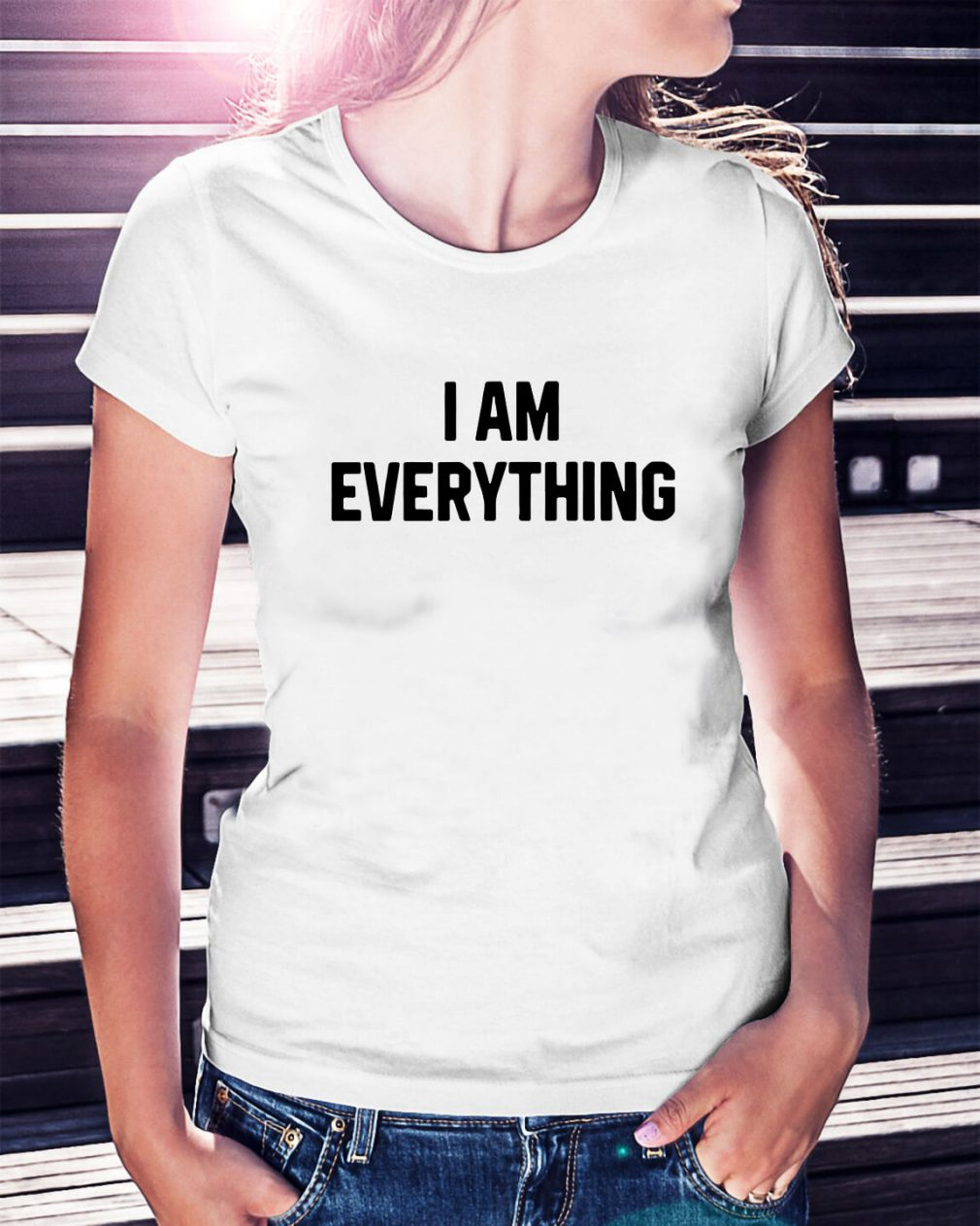 Official I am everything Ladies Tee