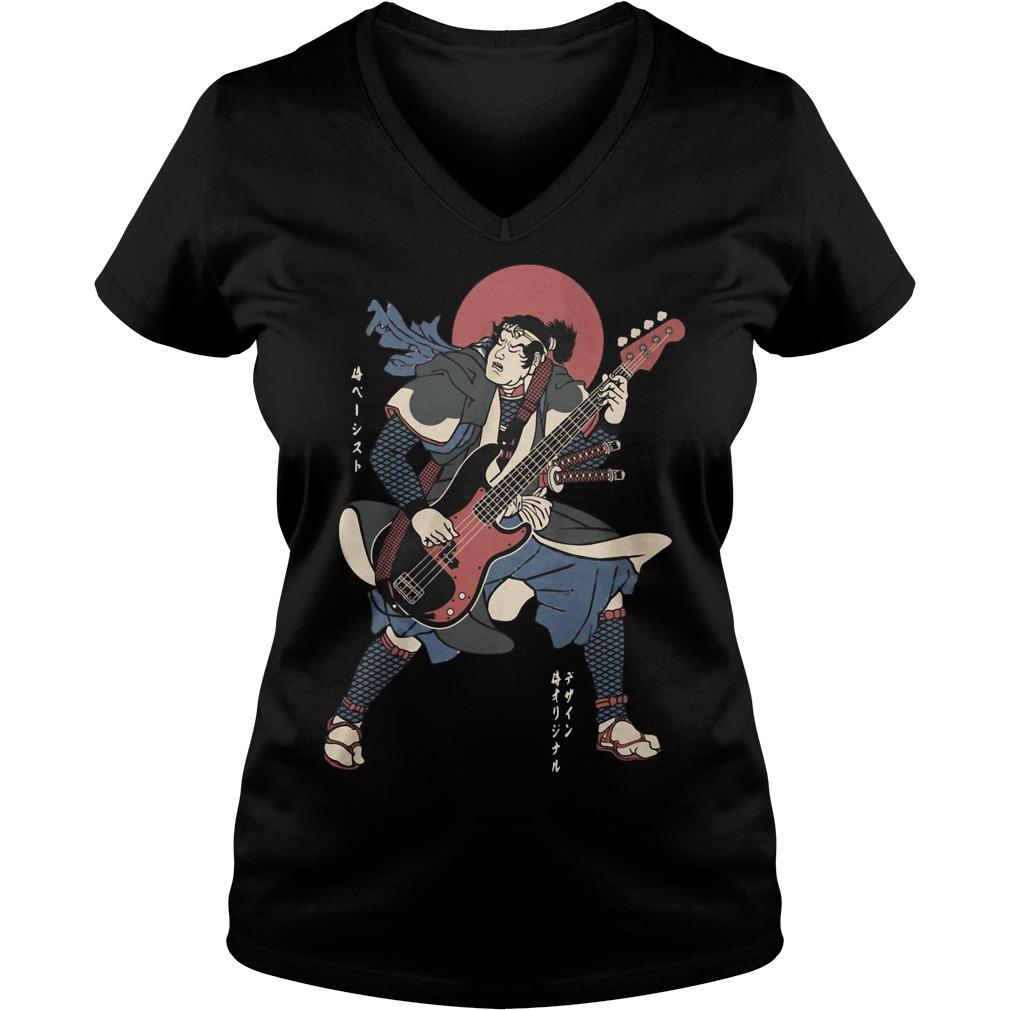 Official Samurai guitar V-neck T-shirt