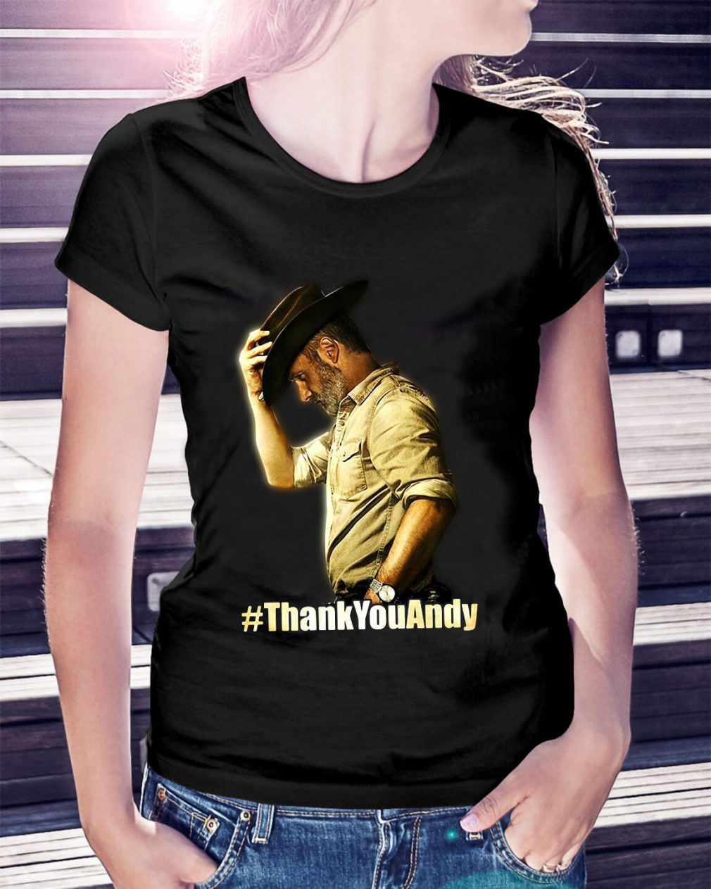 Official Thank you Andy Ladies Tee