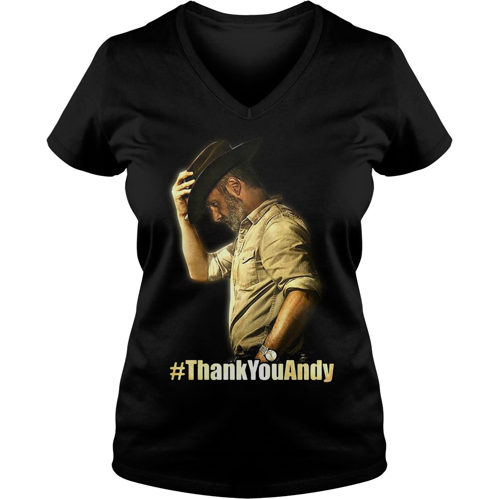 Official Thank you Andy V-neck T-shirt