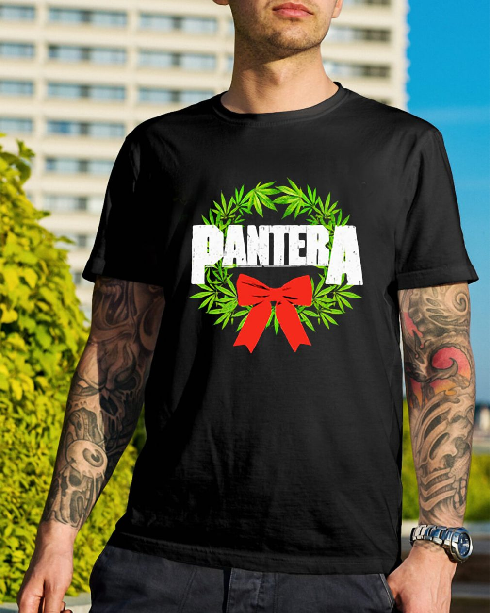 Pantera weed Christmas Guys Shirt