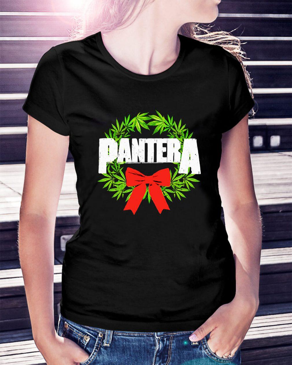 Pantera weed Christmas Ladies Tee