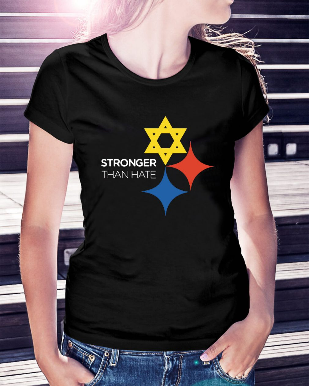 Pittsburgh stronger than hate Ladies Tee
