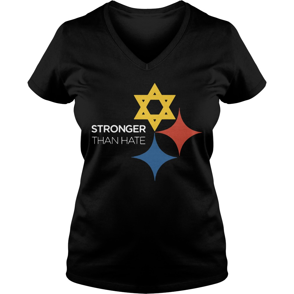 Pittsburgh stronger than hate V-neck T-shirt