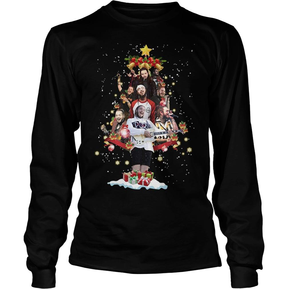 Post Malone Christmas tree Longsleeve Tee