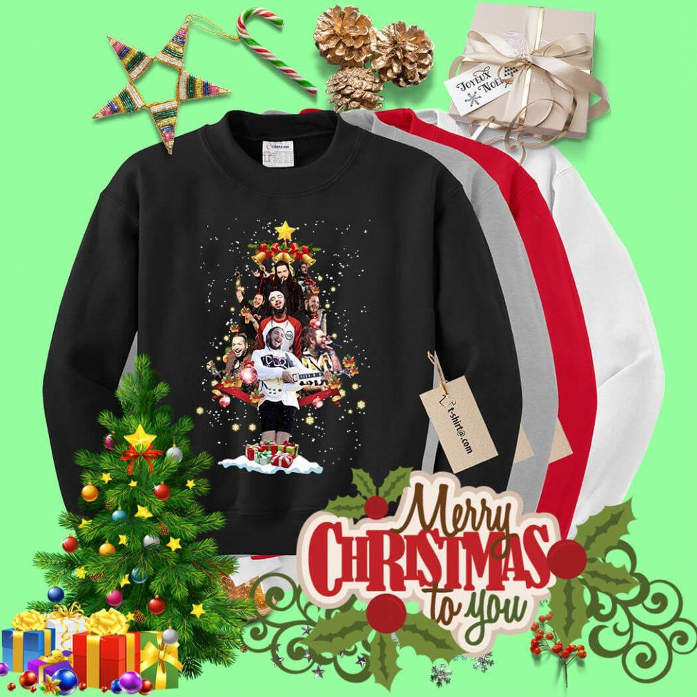 Post Malone Christmas tree shirt, sweater