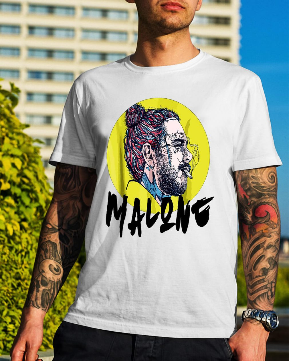 Post Malone stay away smoking shirt