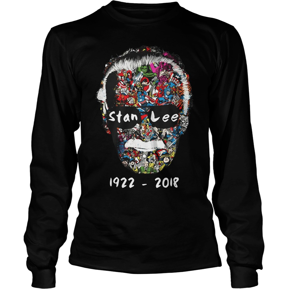 R.I.P Stan Lee man of many faces 1922-2018 Longsleeve Tee