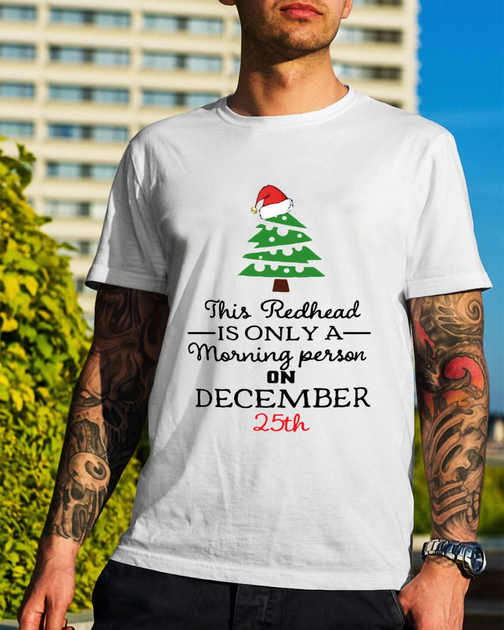 This redhead is only a morning person on December 25th Guys Shirt