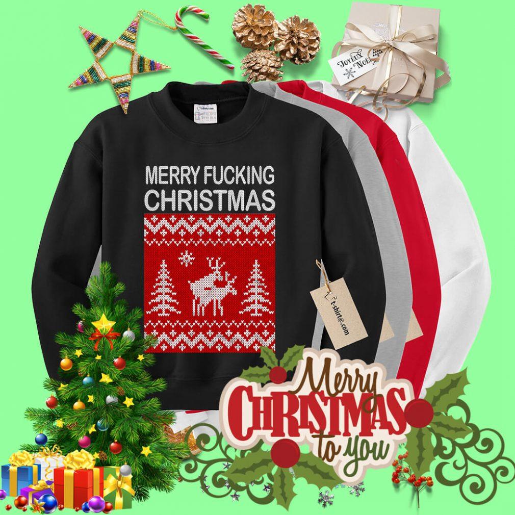 Reindeer merry fucking Christmas shirt, sweater