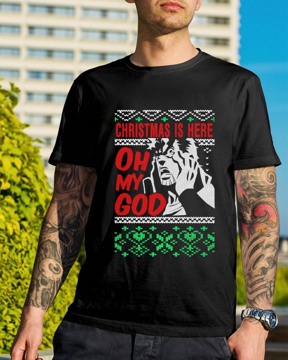 Richard Epcar Christmas is here here oh my God Guys Shirt