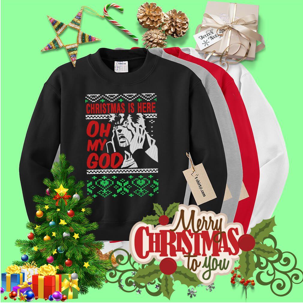 Richard Epcar Christmas is here here oh my God shirt, sweater