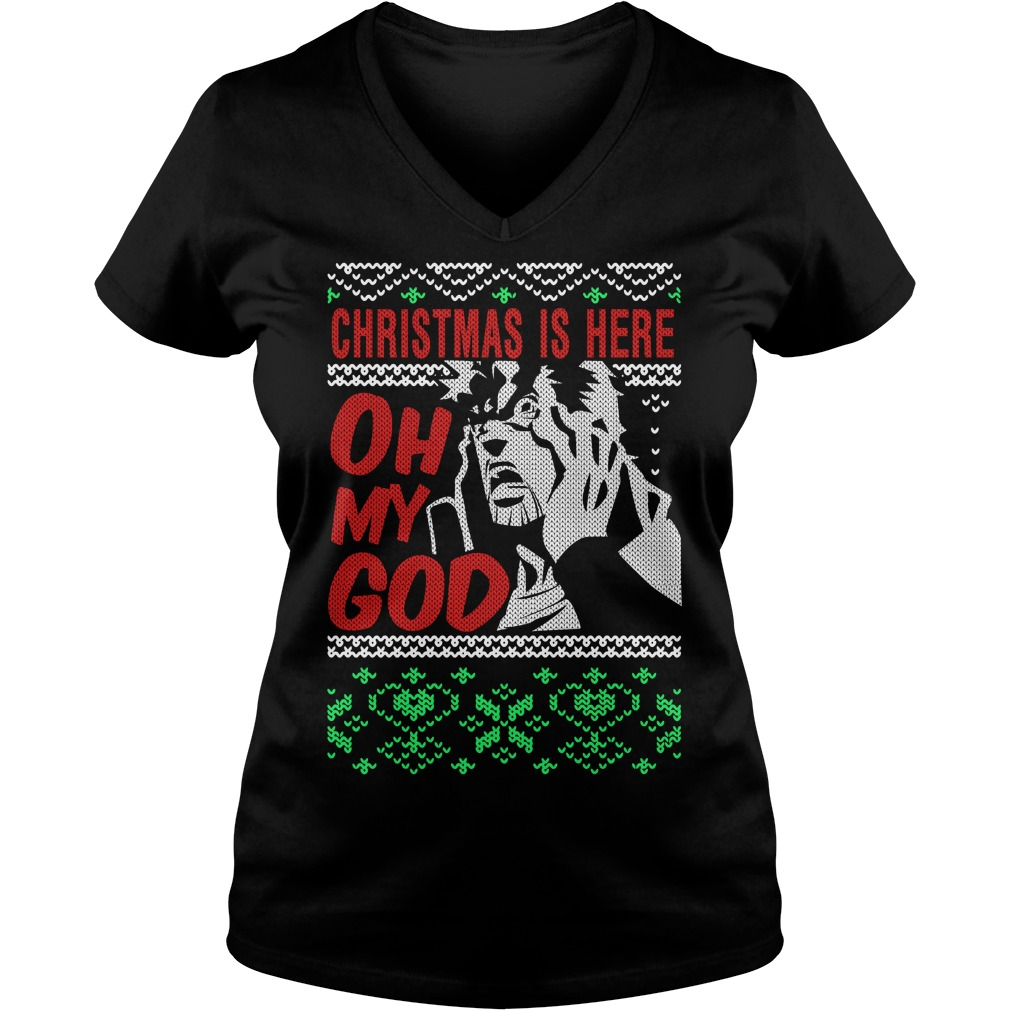 Richard Epcar Christmas is here here oh my God V-neck T-shirt