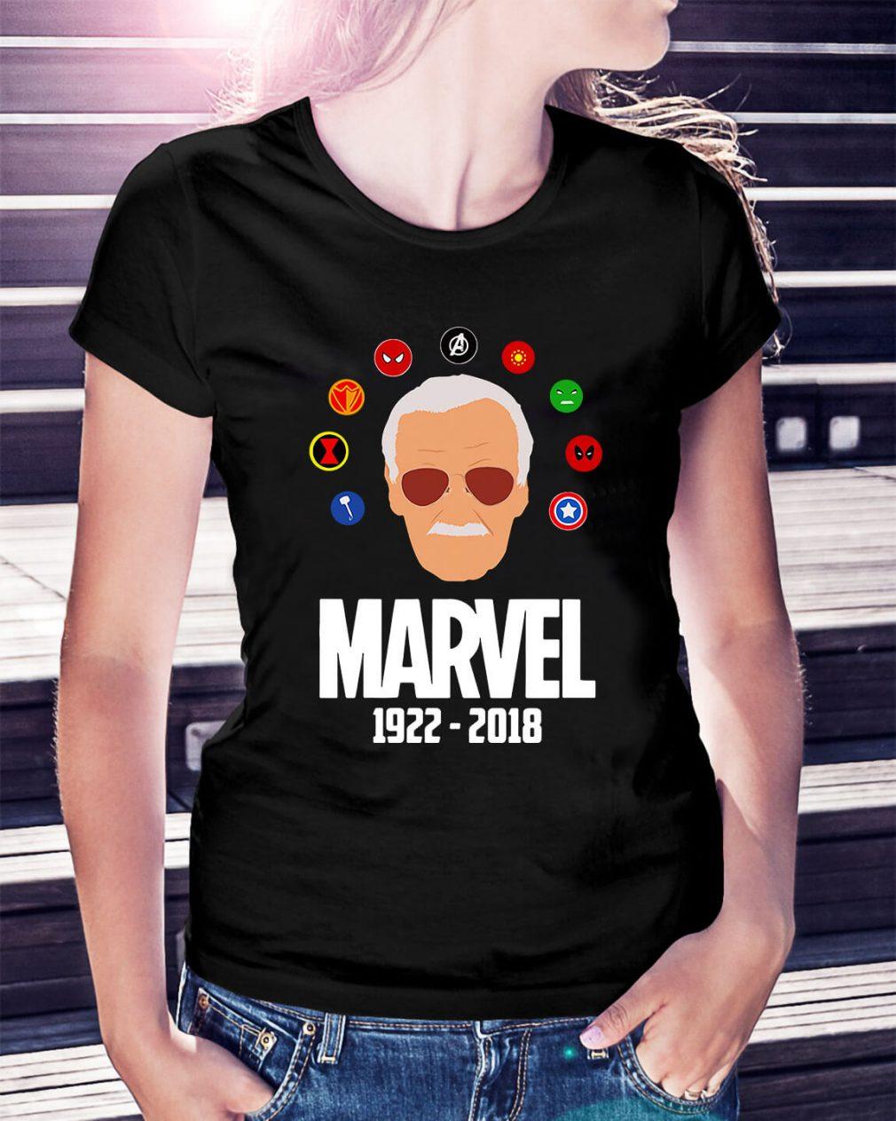Rip Stan Lee 1922 - 2018 with all Marvel Hero Ladies Tee