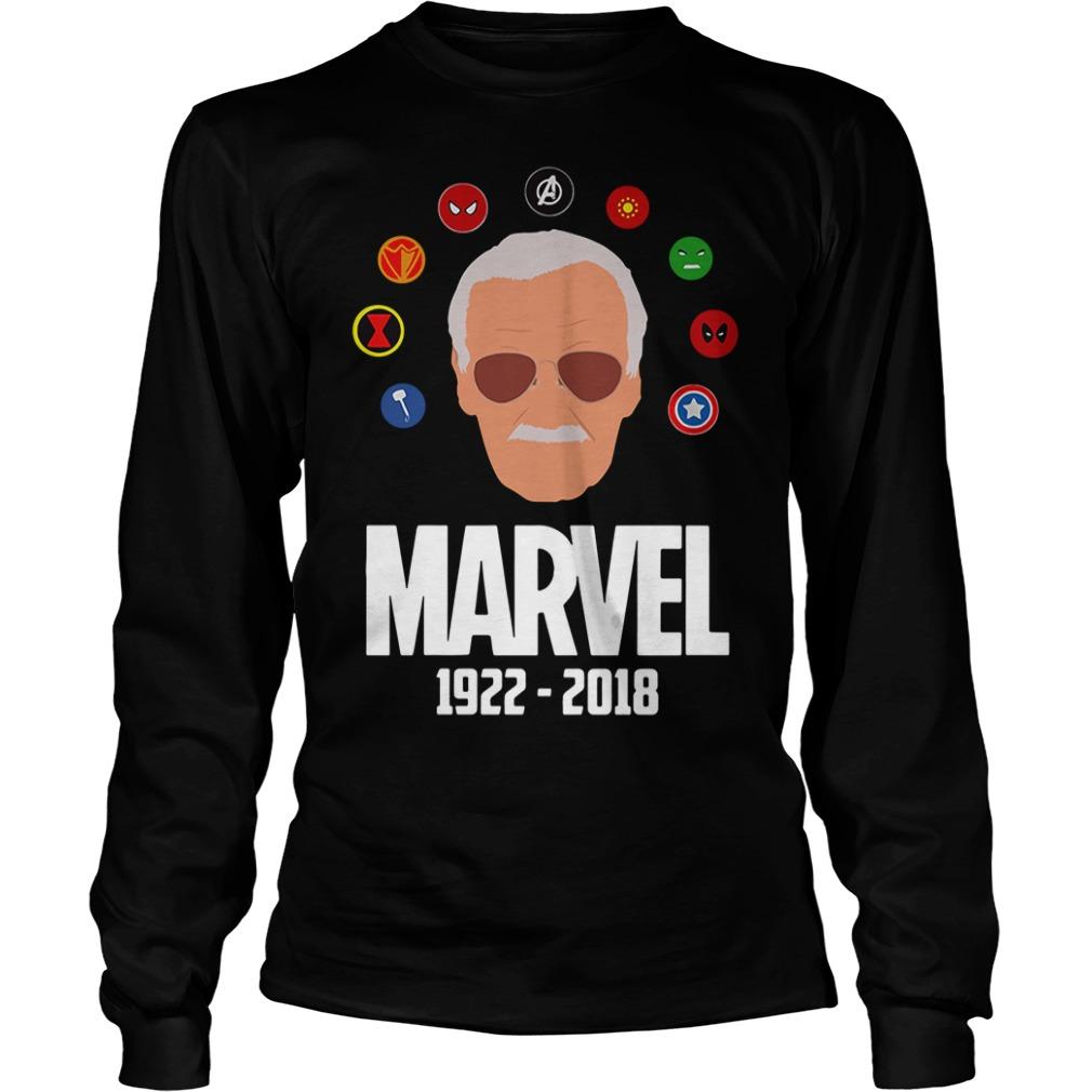 Rip Stan Lee 1922 - 2018 with all Marvel Hero Longsleeve Tee