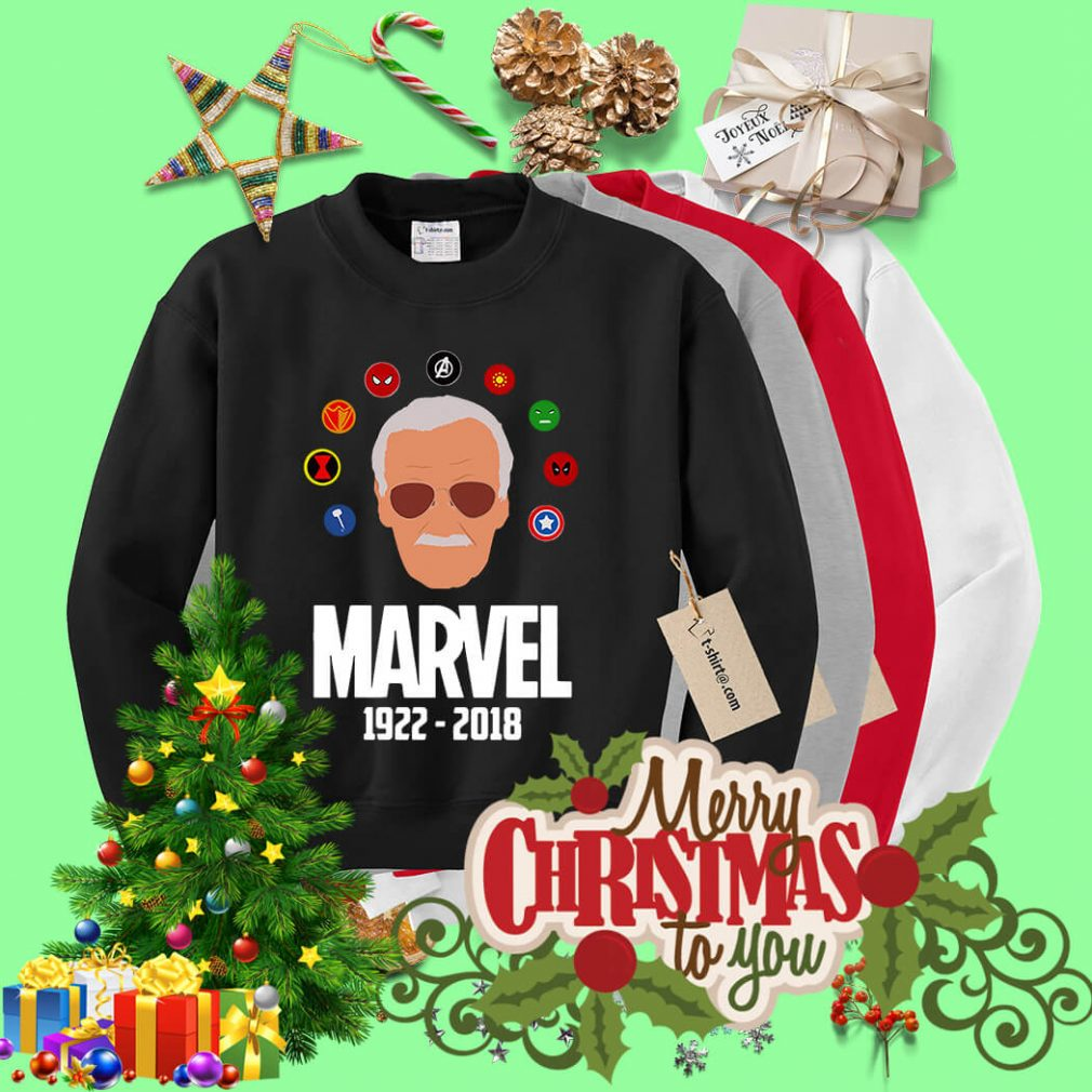 Rip Stan Lee 1922 - 2018 with all Marvel Hero Sweater