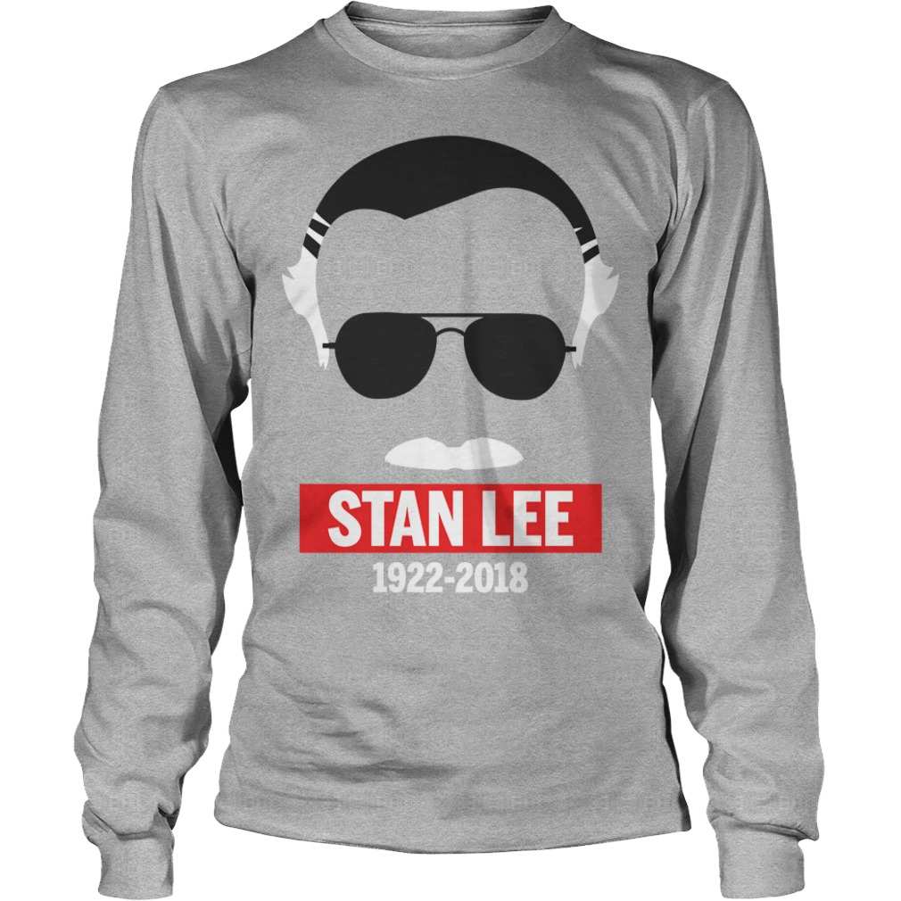 Rip Stan Lee in white 1922-2018 Longsleeve Tee